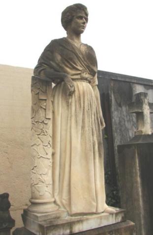 Restauration de la Dame Blanche du cimetière Saint-Roch