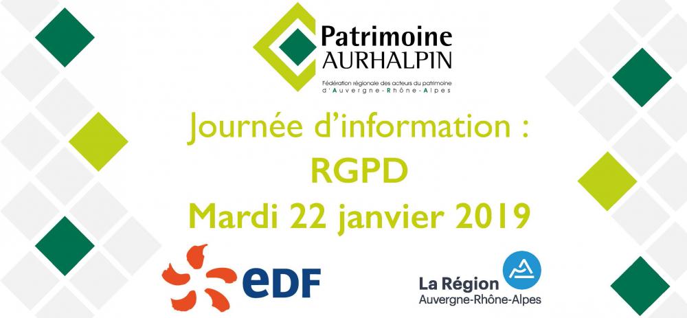 Journée d'information : RGPD