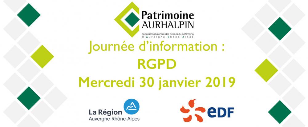 Journée d'information : RGPD - ERRATUM