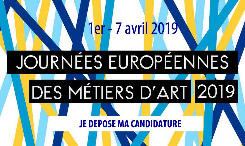 Les Journées Européennes des Métiers d'Art : Inscriptions