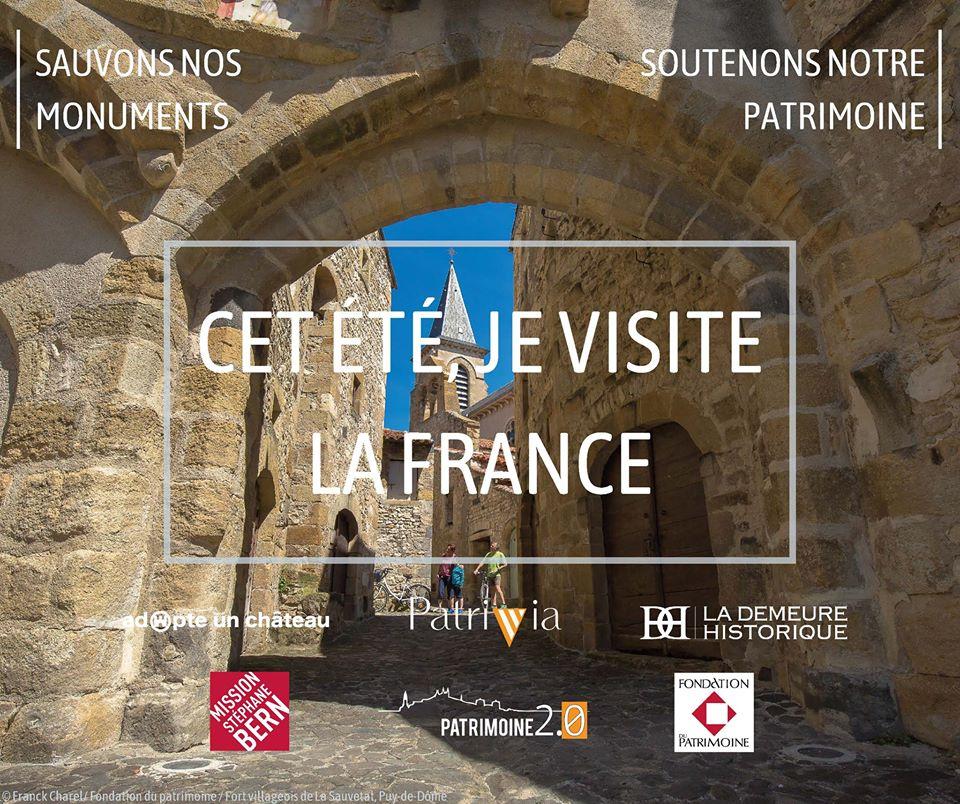 La Fondation du patrimoine s'associe à la campagne #CetÉtéJeVisiteLaFrance !