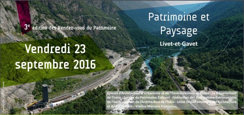 3ème édition des Rendez-vous du Patrimoine en Isère